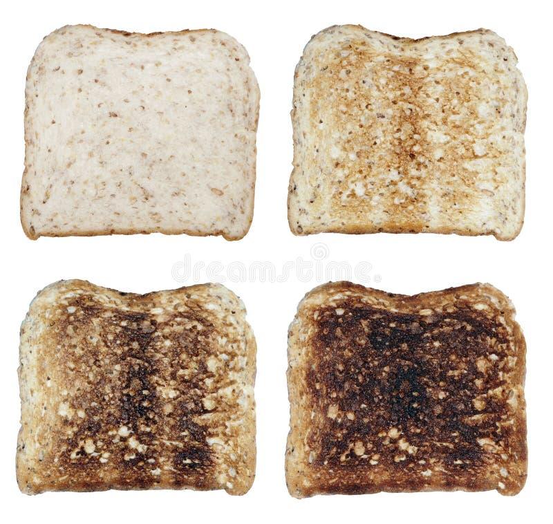 fyra rostat bröd arkivbilder
