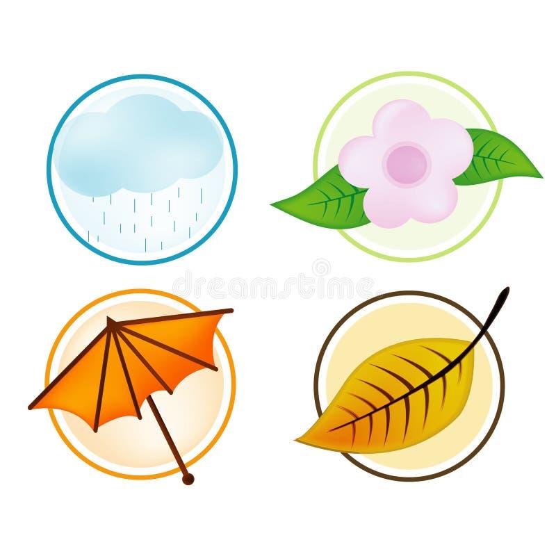 fyra säsonger vektor illustrationer