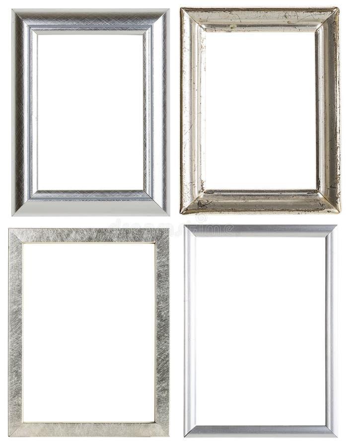 Fyra silverbildramar arkivbilder