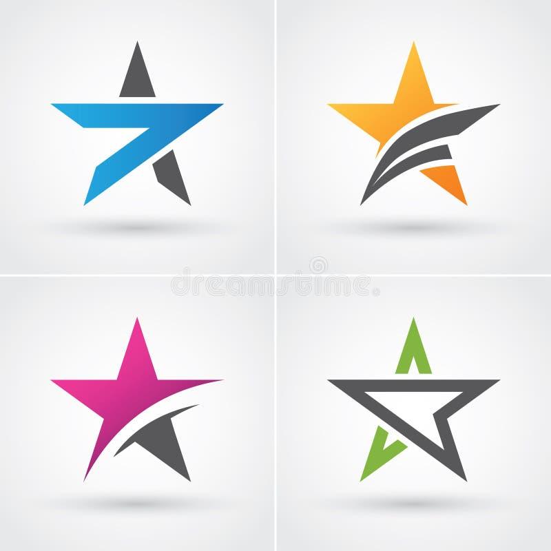 Fyra - stjärnasymboler vektor illustrationer