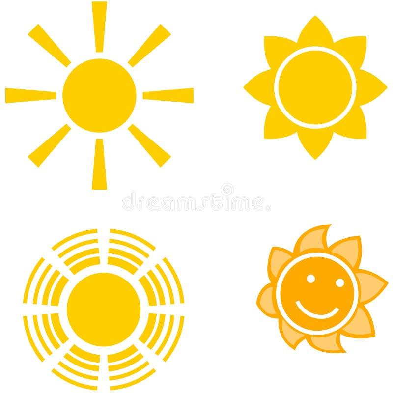 fyra suns royaltyfri illustrationer