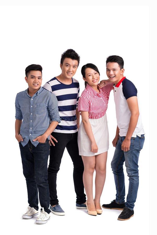 Fyra vänner arkivfoto