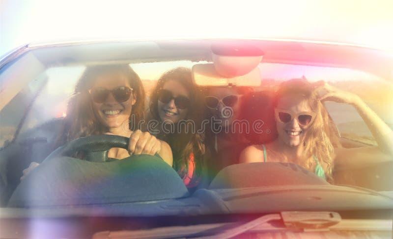 Fyra vänner royaltyfri fotografi