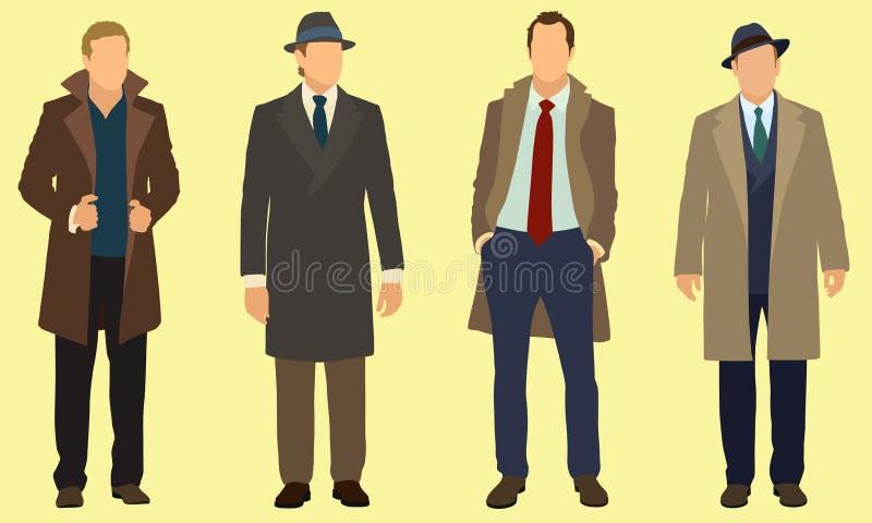 Affärsmän vektor illustrationer
