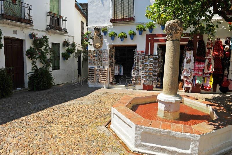 Fyrkant av blommorna, Cordoba, Spanien arkivfoton