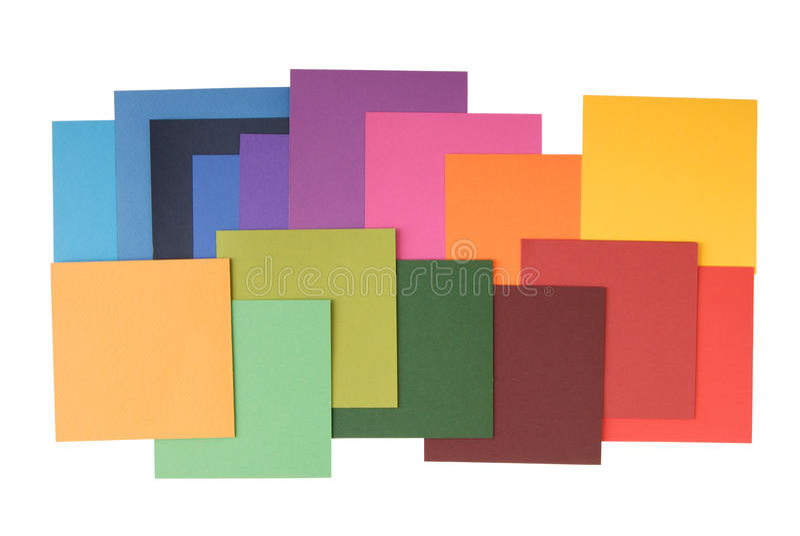 Fyrkant färgat papper arkivfoto