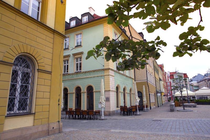 Fyrkant för central marknad i Wroclaw, Polen royaltyfria foton