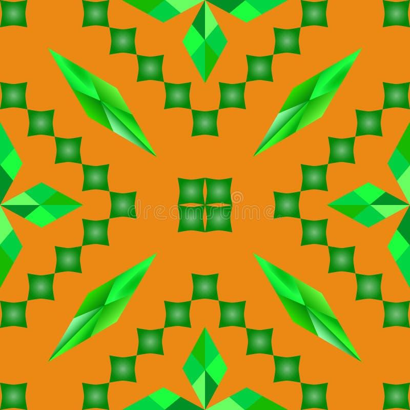 Fyrkant för gräsplan för romb för modellvektorabstraktion orange stock illustrationer