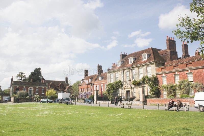 Fyrkant för Salisbury stadgräsplan royaltyfri bild