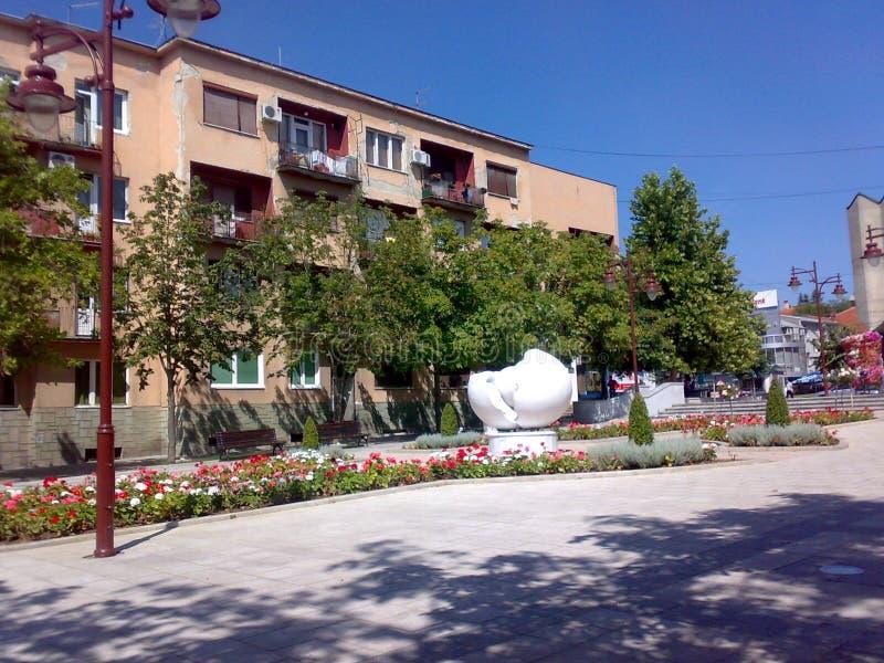 Fyrkant i Arandjelovac, Serbien royaltyfria bilder