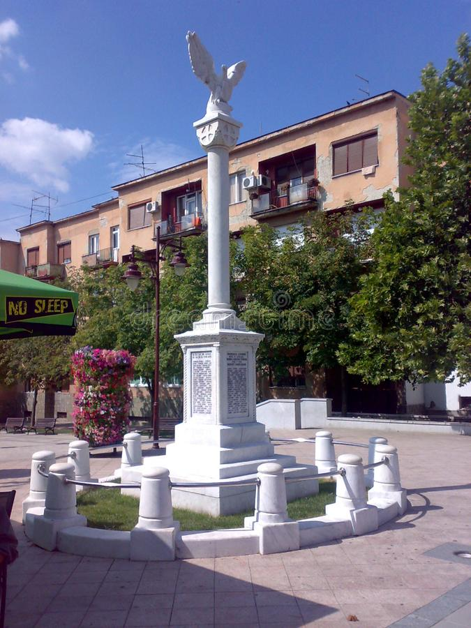 Fyrkant i Arandjelovac, Serbien royaltyfri foto