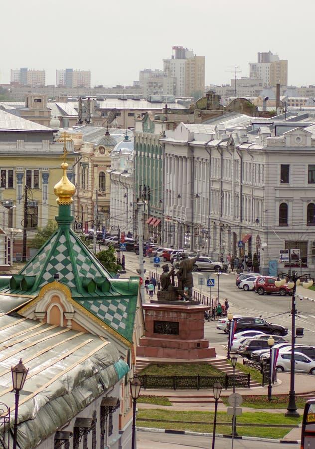 Fyrkant i Nizhny Novgorod royaltyfri fotografi