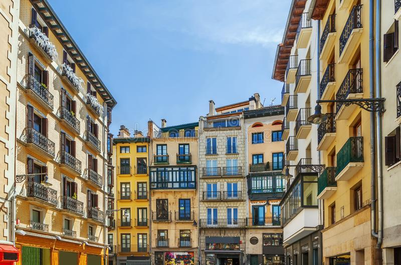 Fyrkant i Pamplone, Spanien royaltyfri fotografi