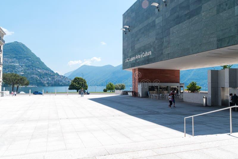 Fyrkant på GUMMILACKA Lugano Arte e Cultura royaltyfri bild