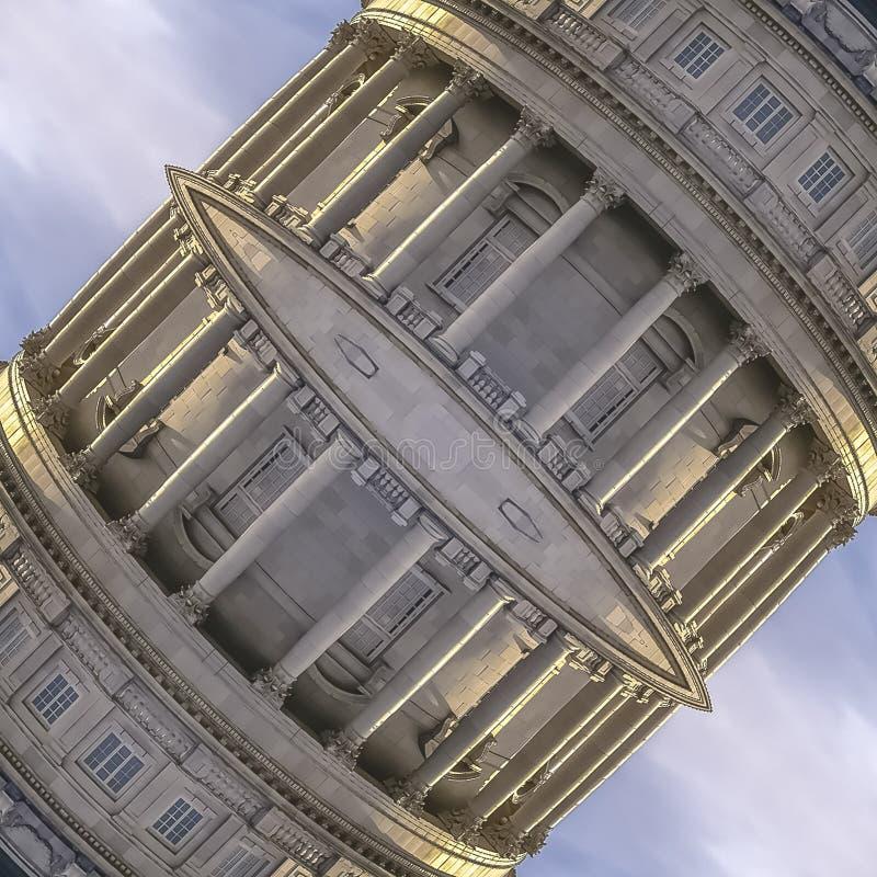 Fyrkantdubbelspegelförsedd kupol av den Utah huvudstaden fotografering för bildbyråer