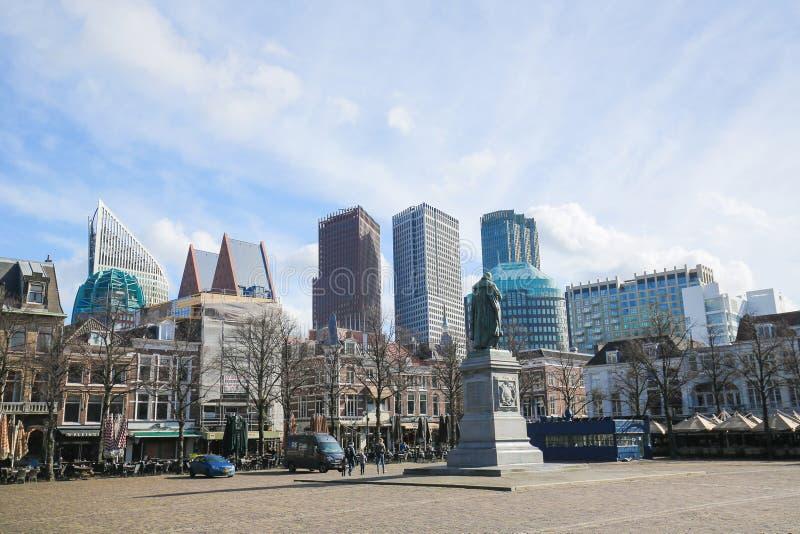 Fyrkanten i Haag, Nederländerna royaltyfria foton