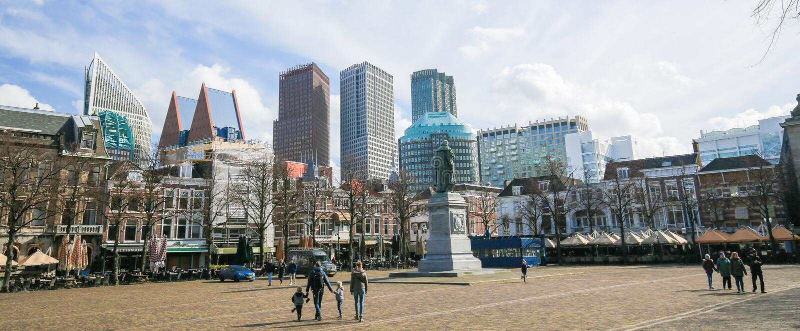 Fyrkanten i Haag, Nederländerna royaltyfri bild