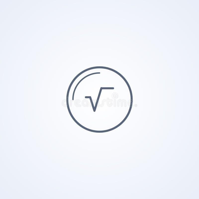Fyrkanten rotar av numret, den bästa gråa linjen symbol för vektorn stock illustrationer