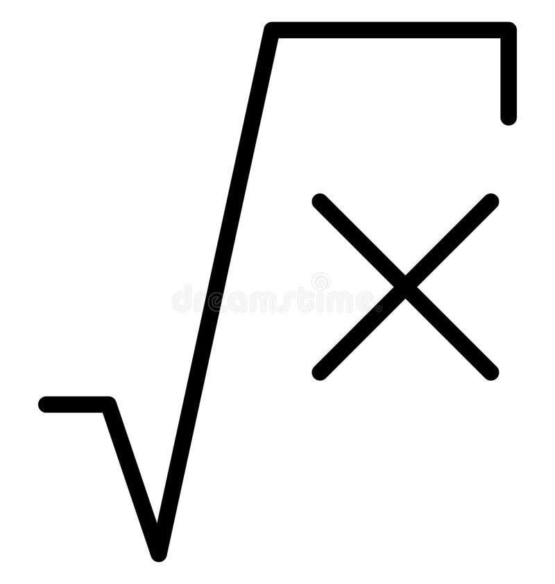 Fyrkanten rotar den isolerade linjen vektorsymbol som kan lätt ändras eller redigeras stock illustrationer