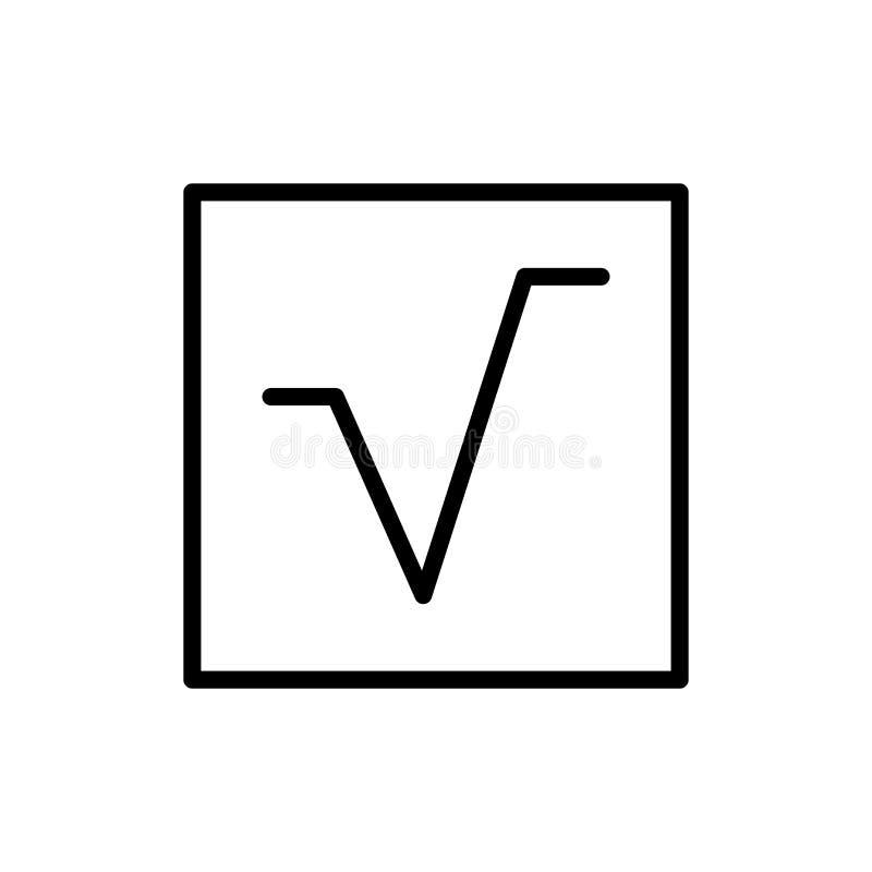 Fyrkanten rotar symbolsvektorn som isoleras på vit bakgrund, fyrkant rotar tecken-, linje- och översiktsbeståndsdelar i linjär st stock illustrationer