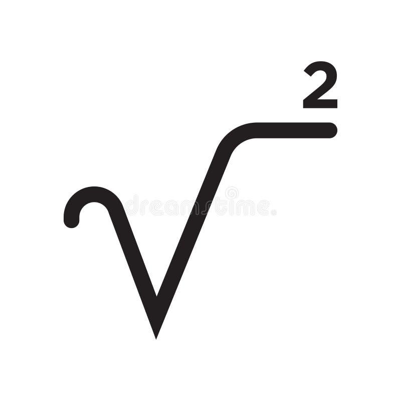 Fyrkanten rotar tecknet för teckensymbolsvektorn, och symbolet som isoleras på vit bakgrund, fyrkant rotar teckenlogobegrepp vektor illustrationer