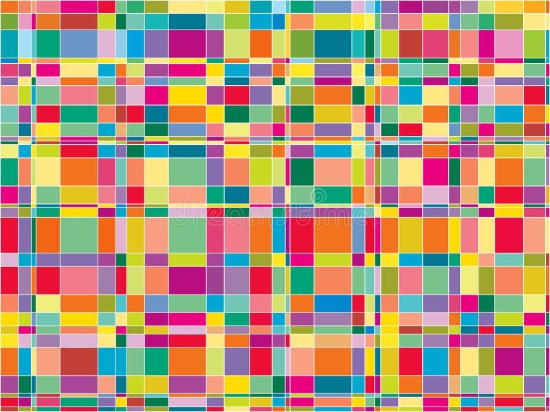 fyrkanter för färgmatrismosaik vektor illustrationer