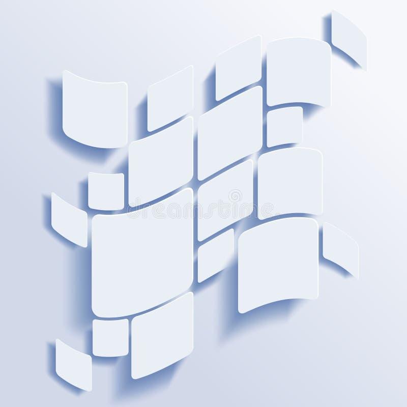 Fyrkanter gör sammandrag vektorbakgrund stock illustrationer