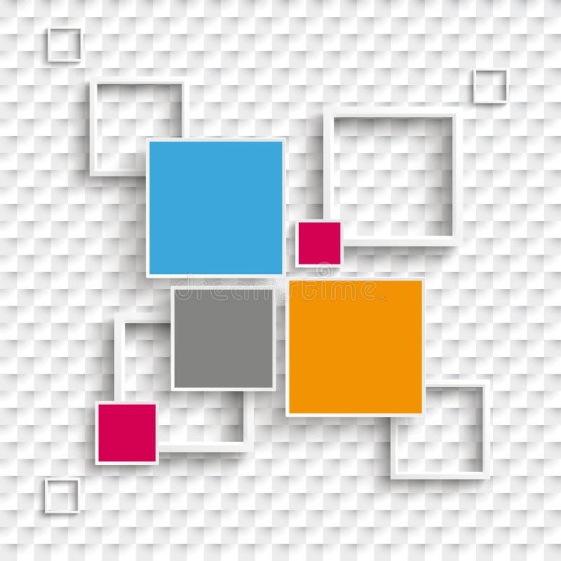 Fyrkanter och bakgrund för alternativ för ramdesign 4 rutig royaltyfri illustrationer