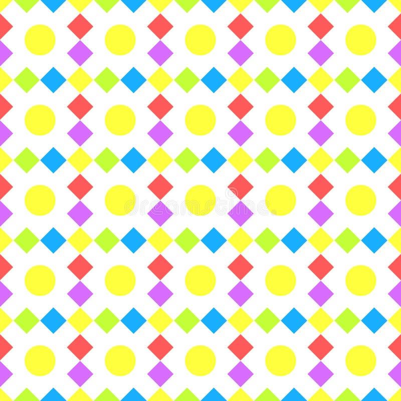 Fyrkanter och sömlös bakgrund för bollar royaltyfri illustrationer