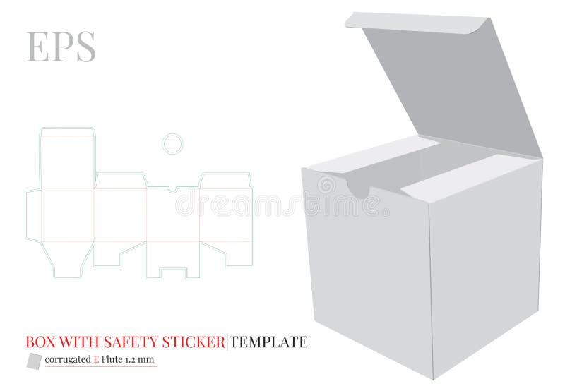 Fyrkantig ask med s vektor illustrationer