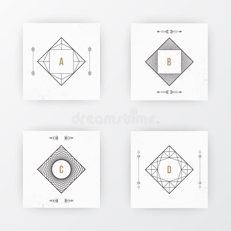 Fyrkantig broschyrmalldesign royaltyfri illustrationer