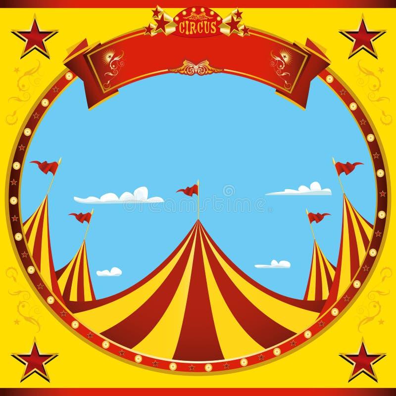 Fyrkantig cirkus för trevlig dag för reklamblad arkivfoton