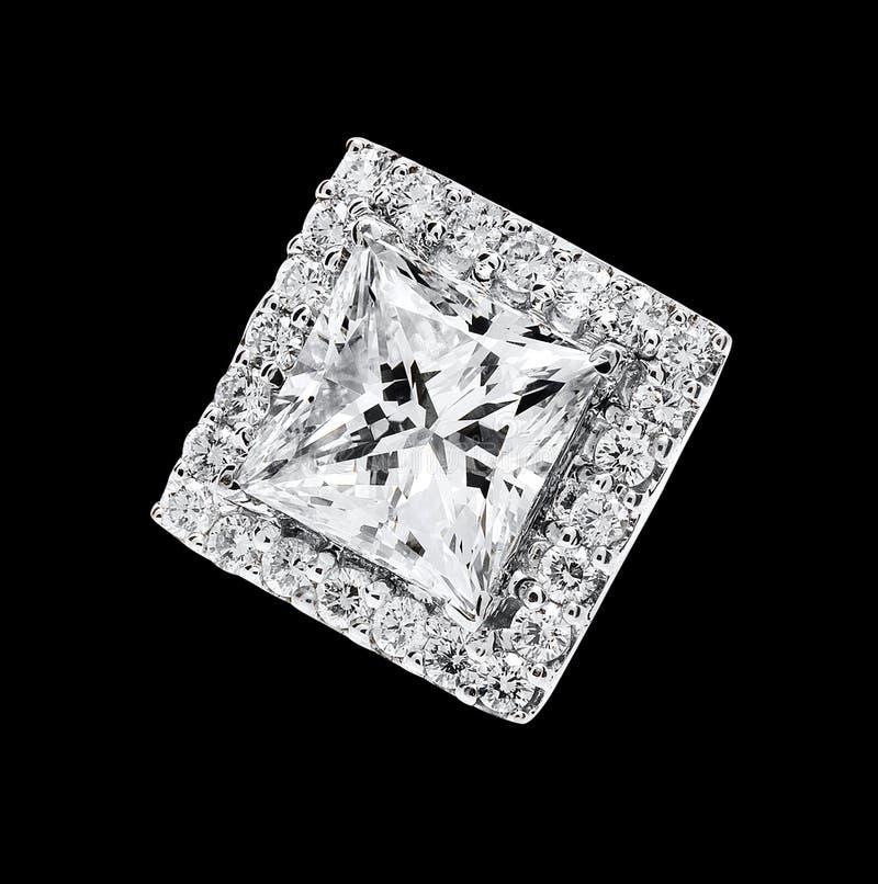 Fyrkantig diamant royaltyfri bild