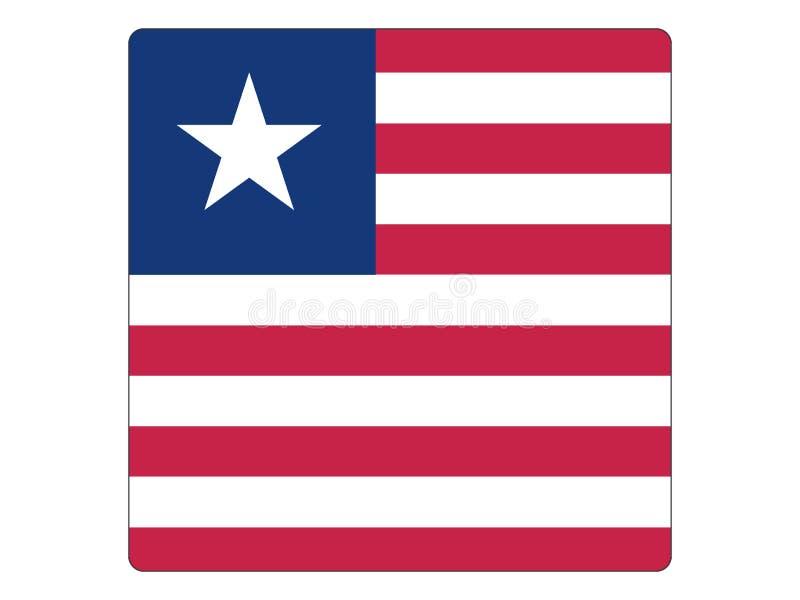 Fyrkantig flagga av Liberia royaltyfri illustrationer