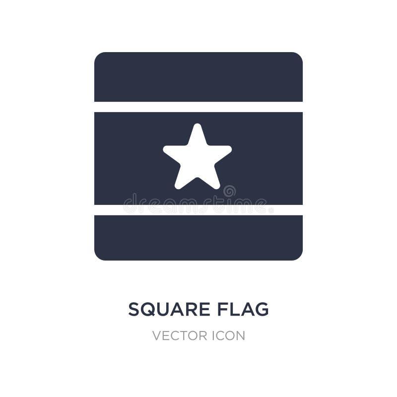 fyrkantig flaggasymbol på vit bakgrund Enkel beståndsdelillustration från översikts- och flaggabegrepp royaltyfri illustrationer