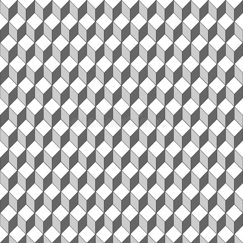 Fyrkantig form för sömlös vektor för modell 3D vektor illustrationer