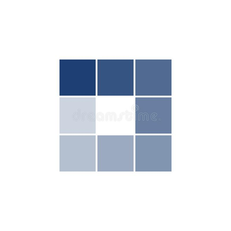 Fyrkantig knapp för cirkel för laddarsymbolsvektor Stången för framsteg för påfyllningteckensymbolet för laddar upp nedladdningpr stock illustrationer