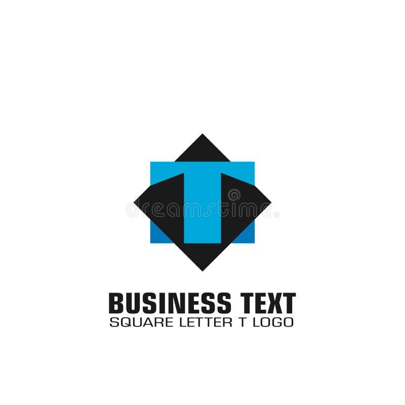 Fyrkantig logo för bokstav T royaltyfri illustrationer