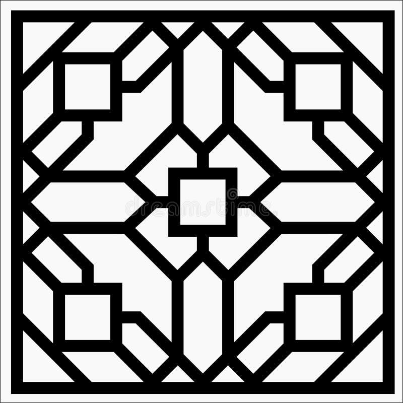 Fyrkantig prydnad för vektor royaltyfri illustrationer