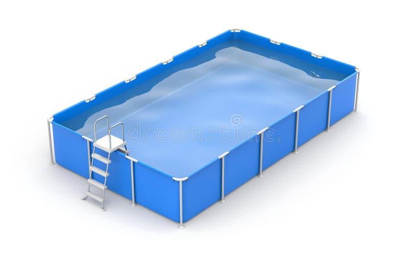 fyrkantig simning för pöl stock illustrationer