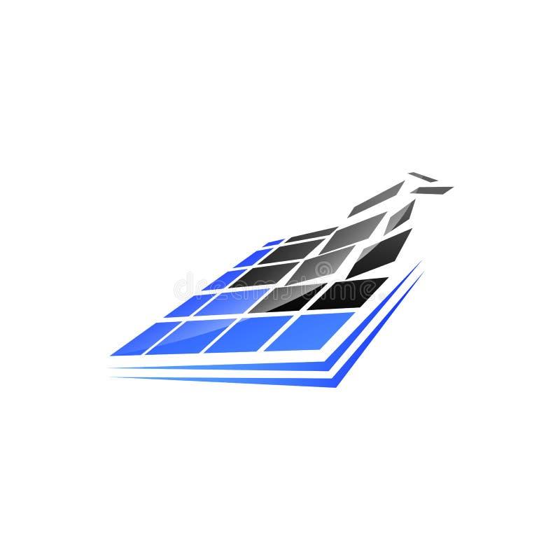 Fyrkantig teknologilogo för PIXEL För PIXELlogo för fyrkant digital design V vektor illustrationer