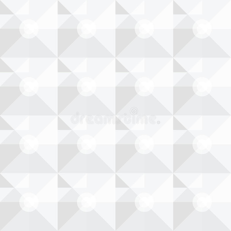 Fyrkantig vit geometrisk abstrakt modell stock illustrationer