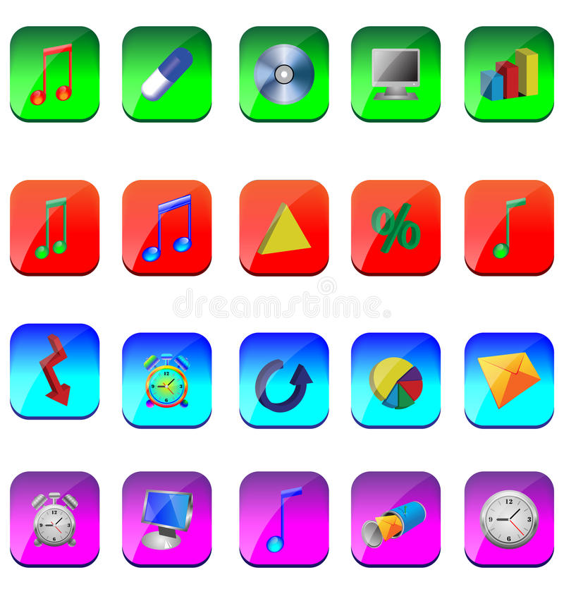 Download Fyrkantiga symboler vektor illustrationer. Illustration av design - 27286547