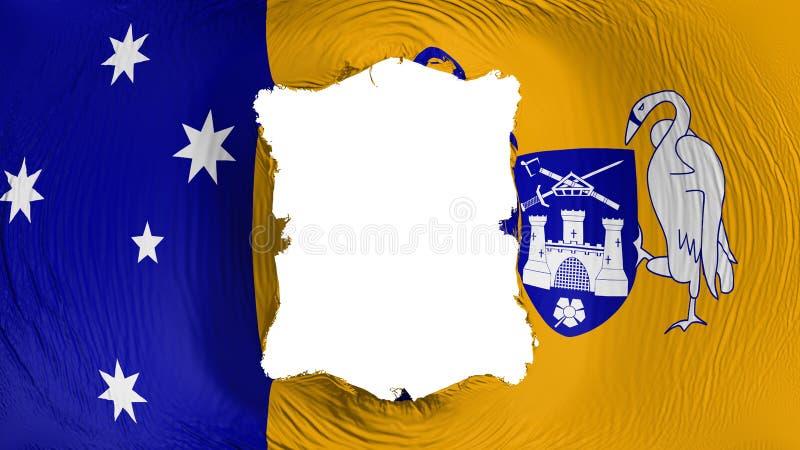 Fyrkantigt hål i den Canberra flaggan vektor illustrationer