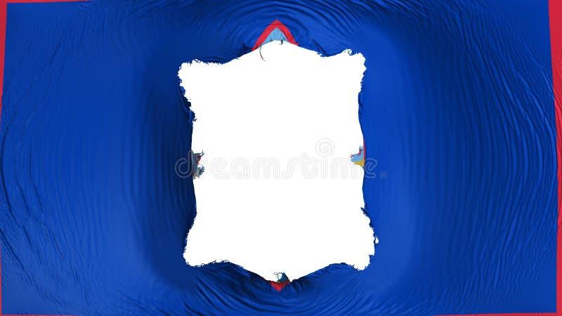 Fyrkantigt hål i den Guam statflaggan stock illustrationer