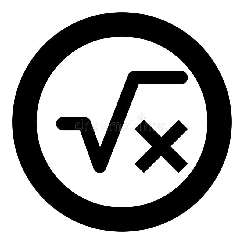 Fyrkantigt rota av bild för illustration för vektor för färg för svart för x-axelsymbol enkel royaltyfri illustrationer