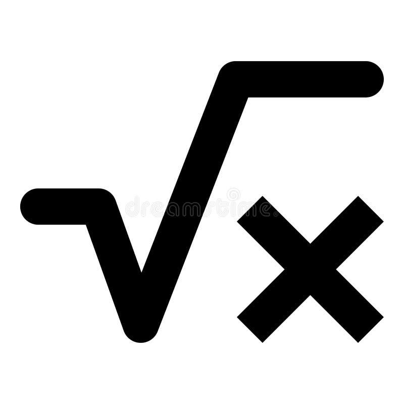 Fyrkantigt rota av bild för stil för lägenhet för illustration för färg för svart för x-axelsymbol enkel vektor illustrationer