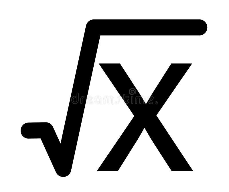 Fyrkantigt rota symbolen i moderiktig plan stil på vit bakgrund royaltyfri illustrationer