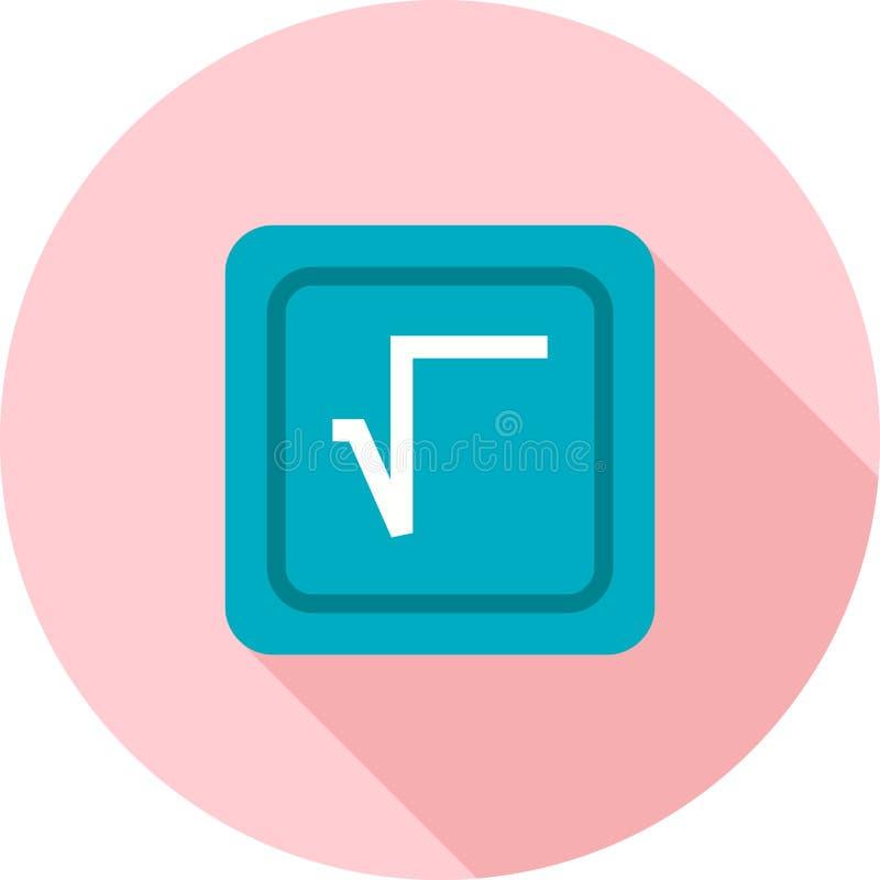 Fyrkantigt rota symbolet vektor illustrationer