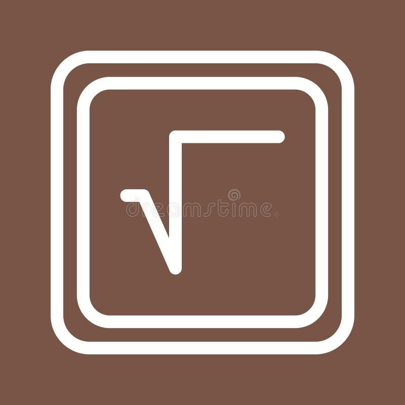 Fyrkantigt rota symbolet stock illustrationer